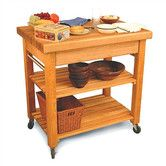 Found it at Wayfair - French Country Kitchen Cart with Butcher Block Top