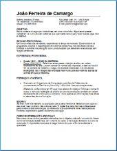 Modelo de currículo para preencher