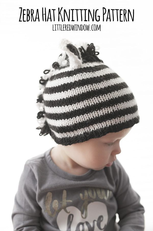 cfe8f662d27 You ll love knitting this adorable stripey zebra hat with this free  knitting pattern!