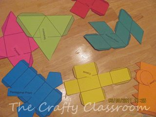 Haz tus propios cuerpos geométricos - Aprendiendo matemáticas