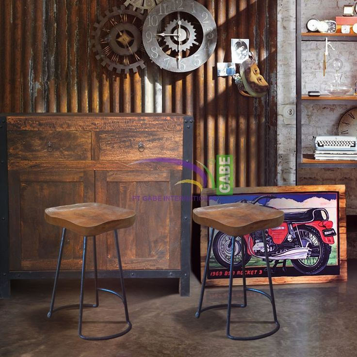 Buffet #credenza #rustic solid wood ,....Combine with #metal , industrial design . #indonesiafurniture #furniture