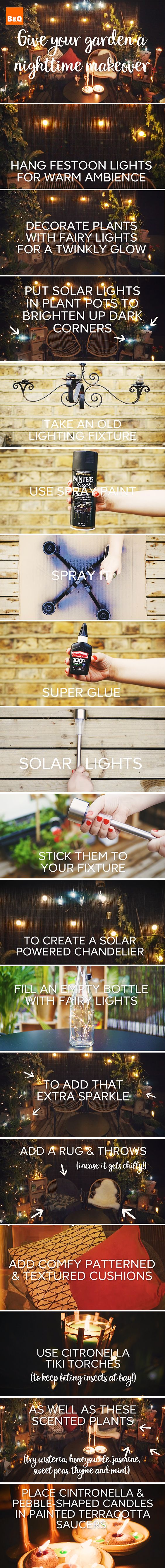Making over your balcony or small garden space gives you an extra room to entertain during the summer. Use festoon lights, hurricane lanterns, balcony plants and succulents to add some boho glam to your balcony.