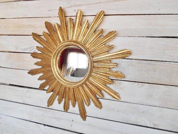 Sunburst Vintage met Bolle Spiegel in van SecretsOfThePast op Etsy