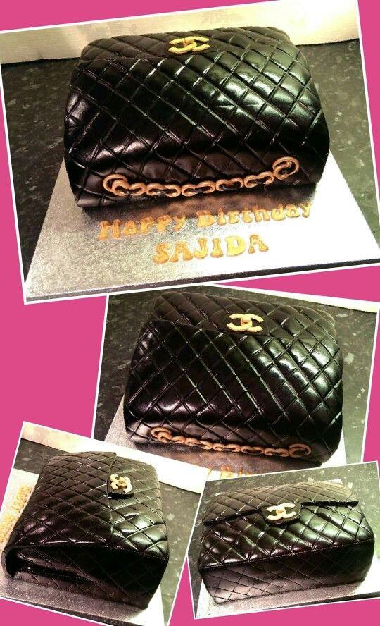 Black channel bag cake