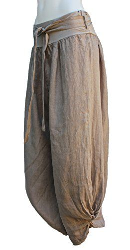 Terra Nomad Women's Italian Linen Harem Pants (Large) - Sand Terra Nomad http://www.amazon.com/dp/B00D3QEJFK/ref=cm_sw_r_pi_dp_q013vb1H787DF