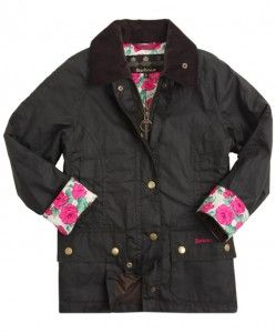 Barbour jacket lined a with Liberty of London print