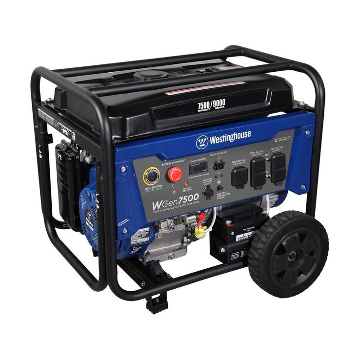 7500watt gasoline powered wireless remote start portable generator with engine