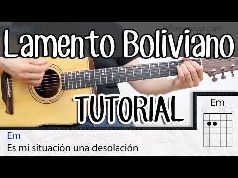 Como tocar Lamento Boliviano Enanitos Verdes en guitarra COMPLETO acordes tutorial SUPER FACIL - YouTube