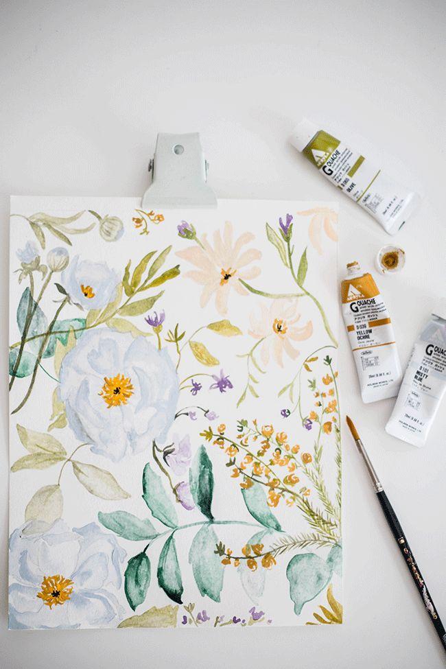 Sketchbook 01 : Floral process by Shannon Kirsten Illustration