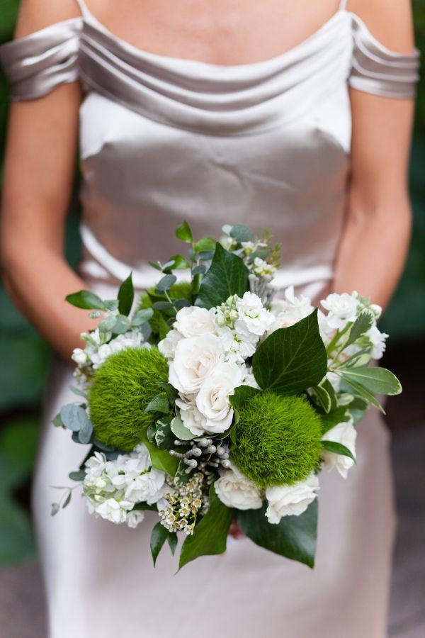 Rose, peony and veronica wedding bouquet: http://www.stylemepretty.com/illinois-weddings/chicago/2016/12/07/the-peninsula-chicago-wedding/ Photography: Emilia Jane - http://emiliajanephotography.com/
