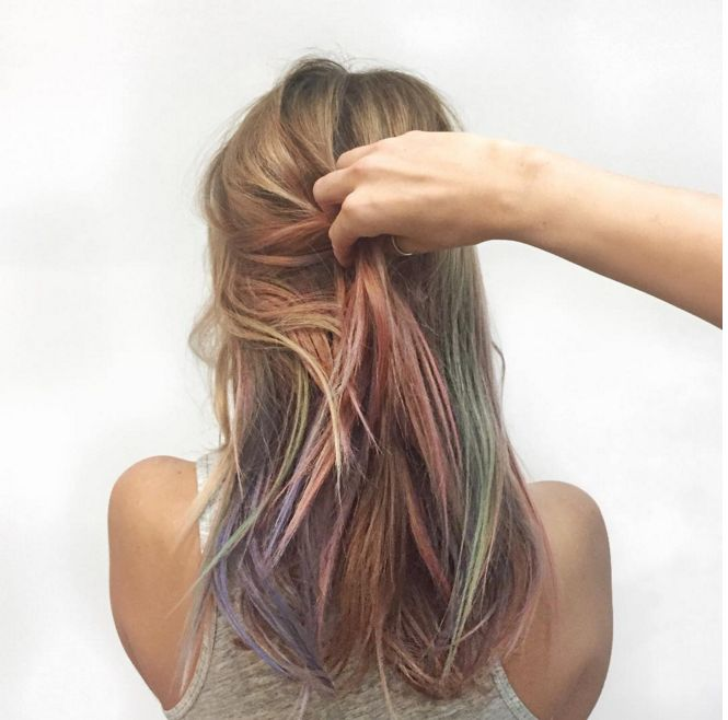 The Pinterest 100: Beauty & Grooming; Mermaid-inspired locks by way of a new coloring trend called fluid hair painting.