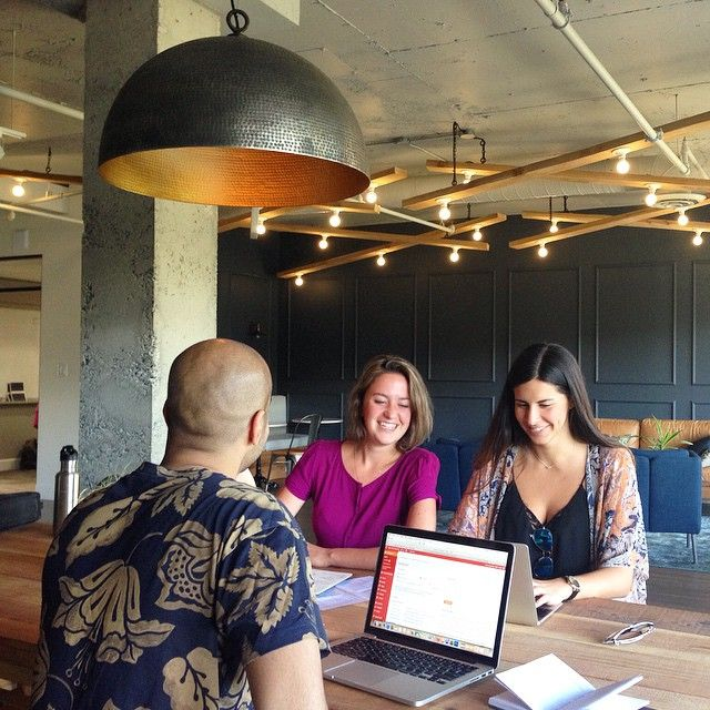 New office space! The Naked Coconuts team staying productive and chic @asuitegenius