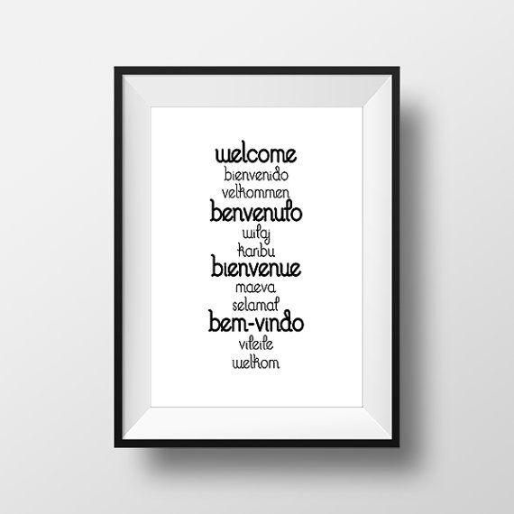 Welcome Bienvenue PosterPrintable Home Decor Wall di ThatsAPoster