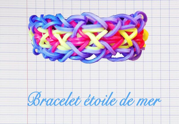 un triple bracelet lastique rainbow avec le monster tail tous nos mod les de bracelets. Black Bedroom Furniture Sets. Home Design Ideas