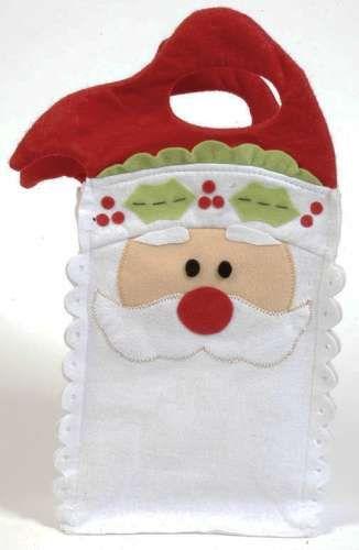Bolsas de fieltro con personajes navideños: Cómo elaborarlas