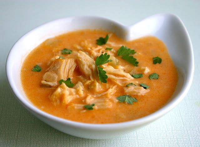 Buffalo Chicken Soup from My Retro Kitchen