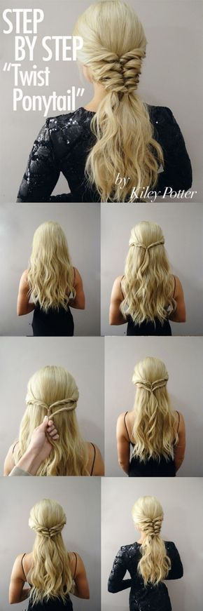 25 +> STEP BY STEP TWIST PONYTAIL FROM KILEY POTTER
