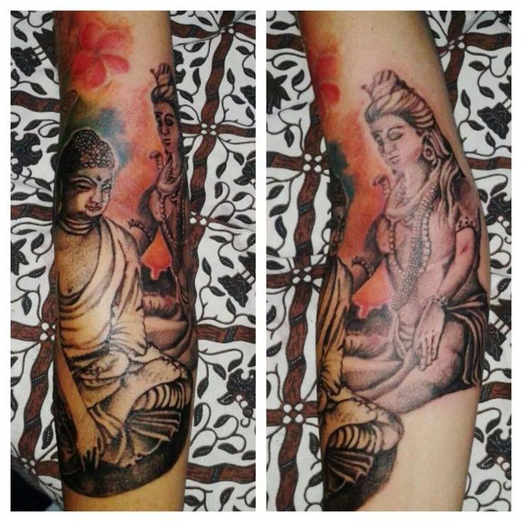 Ohm shiva buddha Blessinkart tattoo parlor