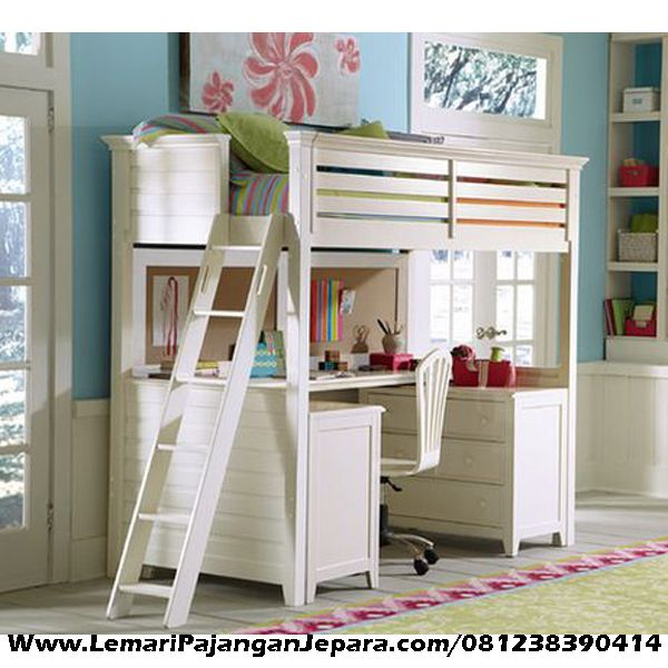 Jual Tempat Tidur Tingkat & Tempat Belajar merupakan desain furniture Anak dengan Kegunaan Multifungsi yang dapat di manfaatkan dengan adanya tempat belajar