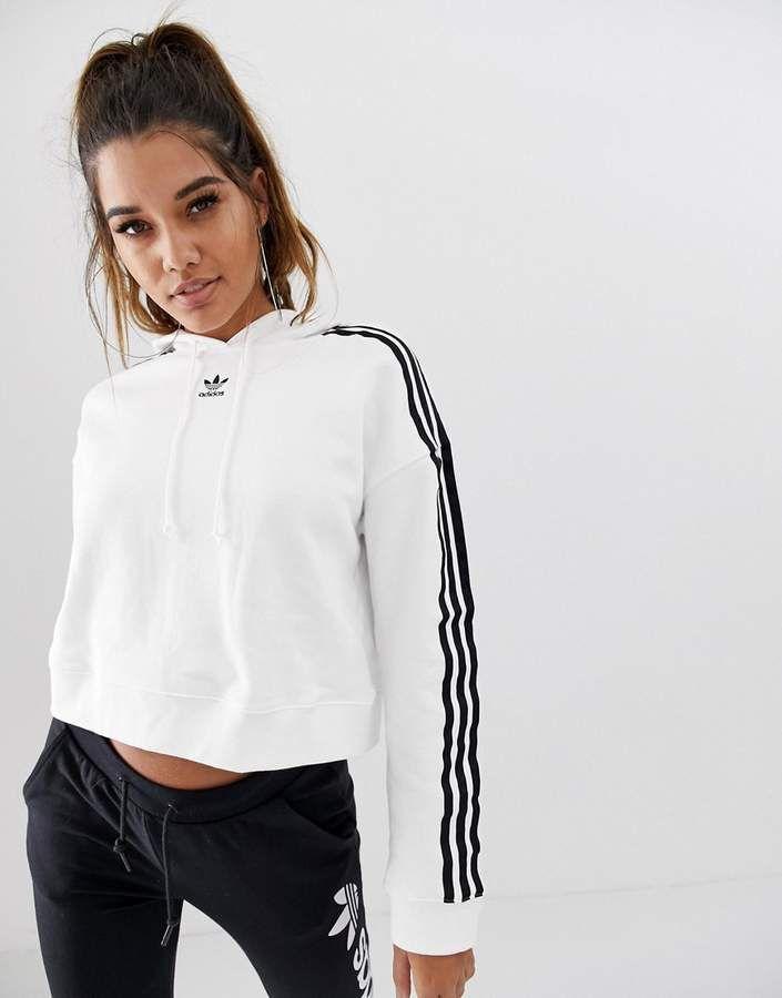 Ausencia prefacio mucho  adidas Originals adicolor cropped hoodie in white | Ropa adidas, Buzo adidas  mujer, Sudaderas adidas mujer