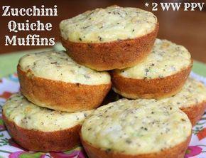 Zucchini Quiche Muffins - 2 Weight Watchers Points Plus Value