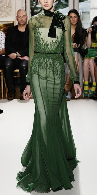 { Georges Hobeika  Green Couture }