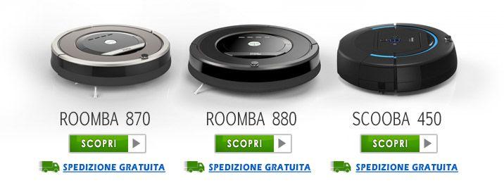 Roomba 870 e 880 i robot top di gamma irobot Aspirapolvere, Lavapavimenti