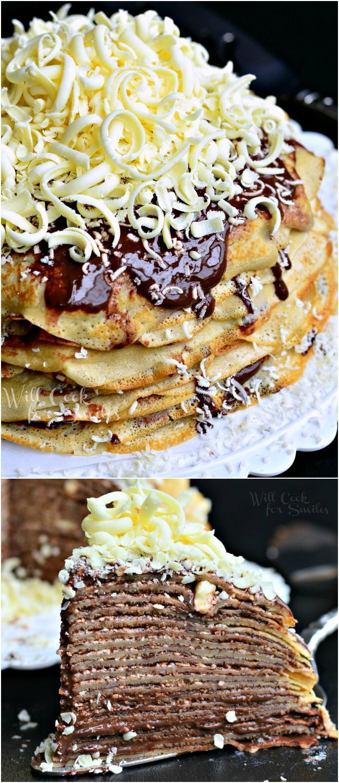 Double Chocolate Chocolate Pudding Crepe Cake