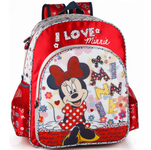 Ghiozdan Rosu Minnie Mouse