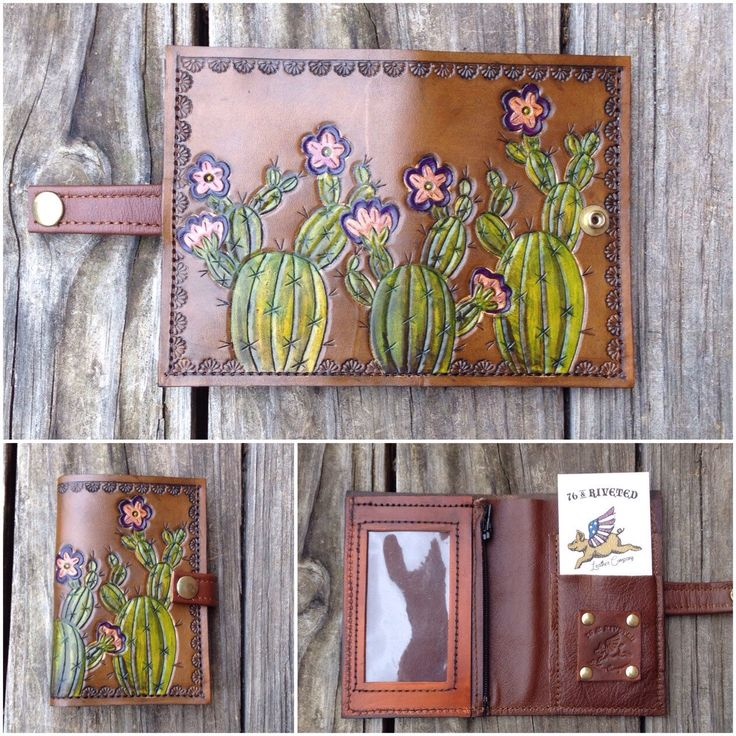 Prickly Pear Cactus Small Wallet by 76andRiveted on Etsy https://www.etsy.com/listing/286592561/prickly-pear-cactus-small-wallet
