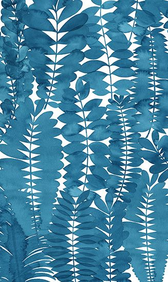 // Indigo Leaves by Natalie Ryan