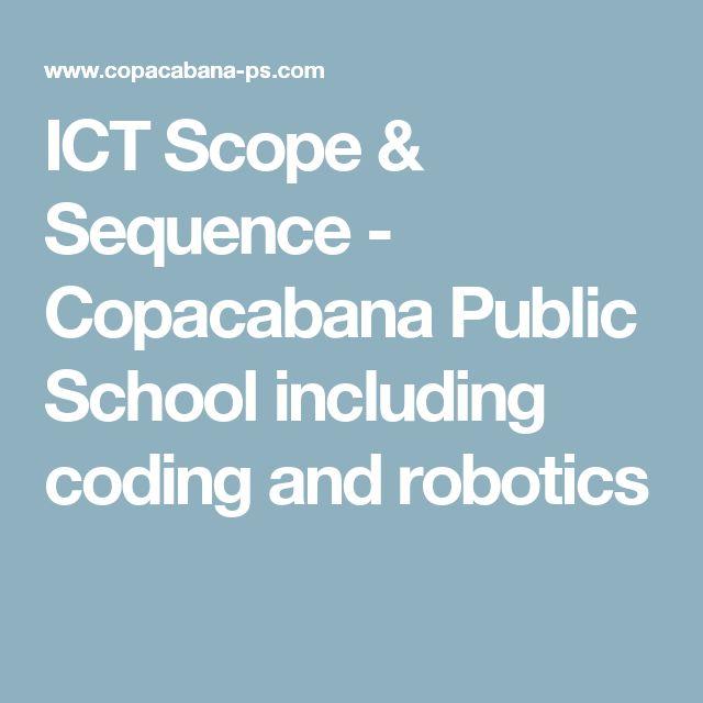 ICT Scope & Sequence - Copacabana Public School including coding and robotics