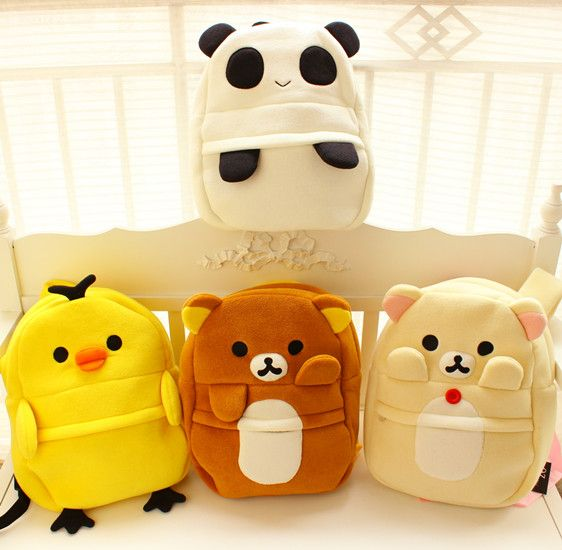 Sprouting lazy bear chick Panda elephants towels fabric bag backpack cartoon chicks arrive