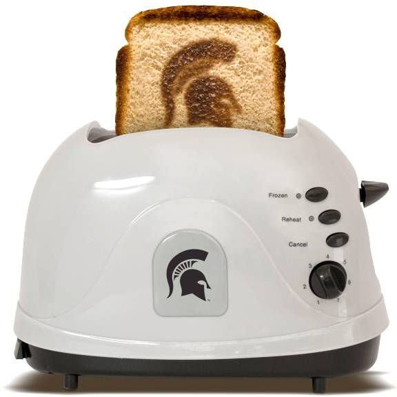 Michigan State University Spartans - brand your bread with this toaster