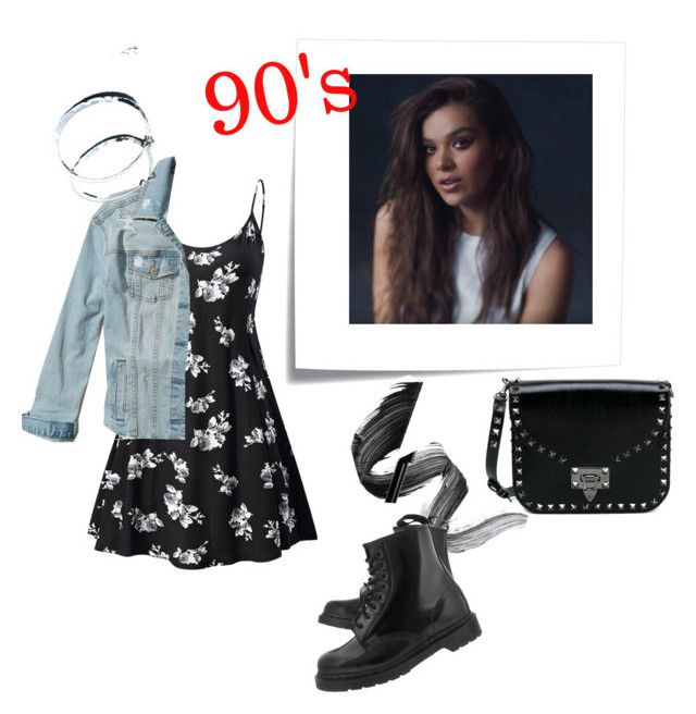"""girl of 90's"" by anastasia-sutawijaya on Polyvore featuring Post-It, Hollister Co., INIKA, Dr. Martens and Valentino"