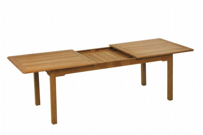 Gartentisch FISCHER «Burma» Ausziehtisch Holztisch aus Teakholz, Einlegeplatte | Gartenmöbel Fachhandel