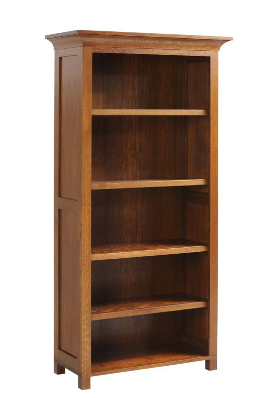 Mission style bookcase - I'd prefer a darker stain...cherry, maybe.