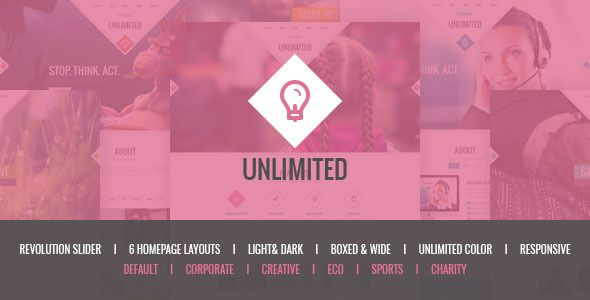 Unlimited – Responsive Multipurpose HTML5 TemplateUnlimited is modern, clean and...