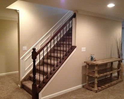 17 best ideas about open basement stairs on pinterest for Basement floor plans with stairs in middle
