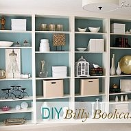 """We purchased four Ikea Billy bookcases and """"built them"""" in with trim w… :: Hometalk"""