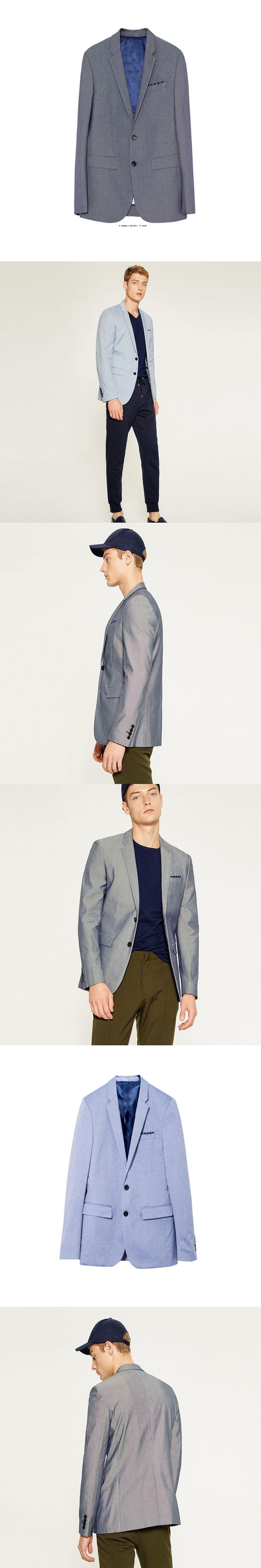 Fashion Casual Suit Jacket Grey/Light Blue Blazer Masculino Slim Fit Classic Men Coat  Formal Solid Color Male Suits Jacket 2018