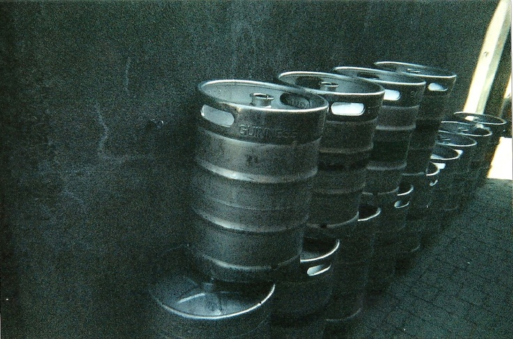 Guinness kegs in Ireland