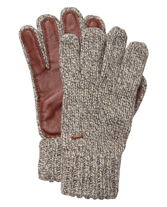 Knitted Gloves With Leather > Mens Clothing > Accessories at Scotch & Soda
