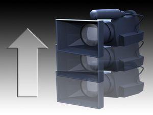 ¿Cuáles son los movimientos de cámara que se utilizan en la narrativa audiovisual?: Movimiento de cabezal: Boom Up/Down (Elevación)