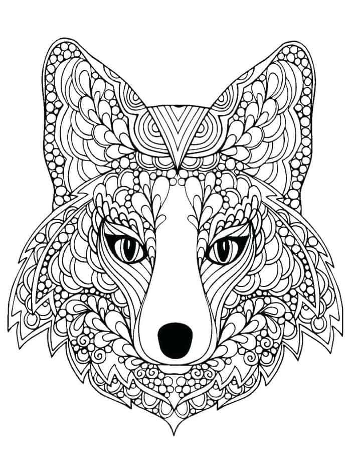 Hard Wolf Coloring Pages Fox Coloring Page Animal Coloring Pages Puppy Coloring Pages