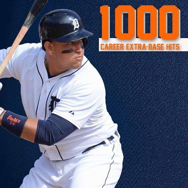 """3,702 Likes, 19 Comments - @tigers on Instagram: """"Congratulations to @miggy24 on his career extra-base bit No. 1,000, the 39th player in @mlb history…"""""""
