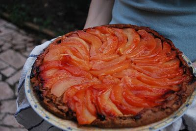 Red Wine Poached Pear, Ginger And Golden Raisin Rustic Tart Recipe ...