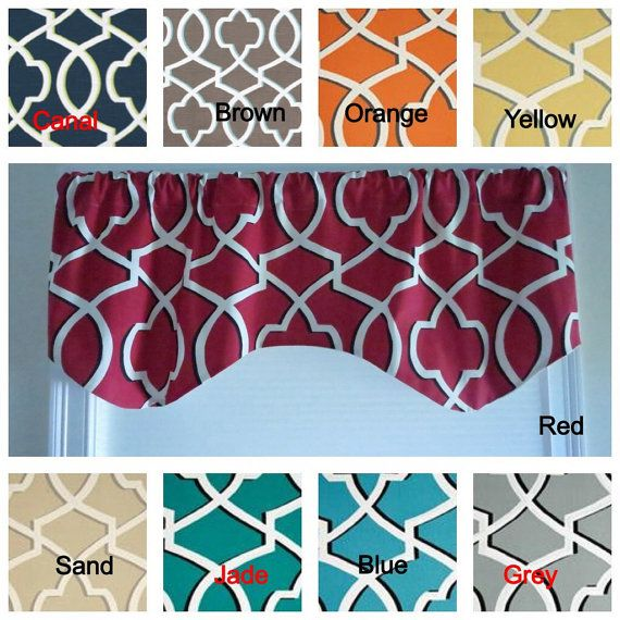 kitchen window valance any color premier print by