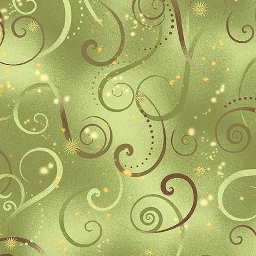 8500M-44 Swirling Sky Celedon Exquisite printing, beautiful colours and design, lovely theme - Dance of the Dragonfly has all the makings of a fabric classic. The printing is truly extraordinary with very fine gold accents - so difficult to achieve! Dragonflies flit among the waterlilies, or fly in a night sky filled with stars. in two luscious coloorways: blue/green and gold/purple. Truly beautiful. 100 % cotton, Juberry Fabrics supply in long quarters of a metre but for l...