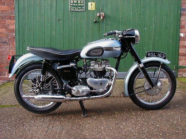 1954 Triumph Tiger T110: Vintage Motorcycles, Triumph Tigers, Tigers T110, Motors Bike, Triumph Motorcycles, Blue Thunderbird, Bike I D, Silver Blue, Tigers 110